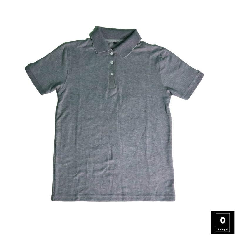 Gray Color Polo For Men - Omega Fashion