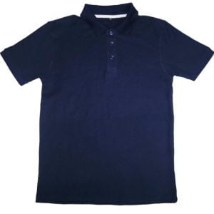 Men's Deep Blue Color Short Sleeve Polo - Omega Fashion