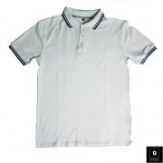 Classic Fit Solid White Polo For Men