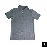 Grey Color Slim Fit Polo Shirts For Men