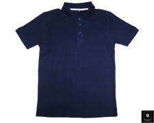 Men's Deep Blue Short Sleeve Polo Shirts