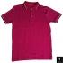 Men's Deep Pink Short Sleeve Polo Shirt