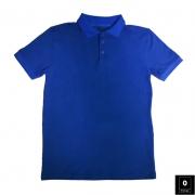 Royal Blue Short Sleeve Polo-Shirt For Men